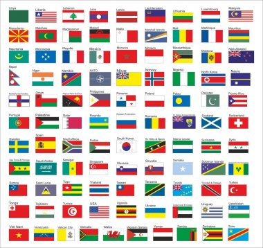 Flags of all countries in the world, part 2