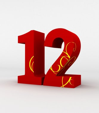 red  number 12