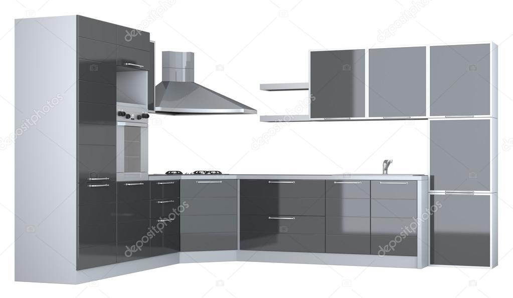 Muebles de cocina integral — Foto de stock © Elenven #58769821