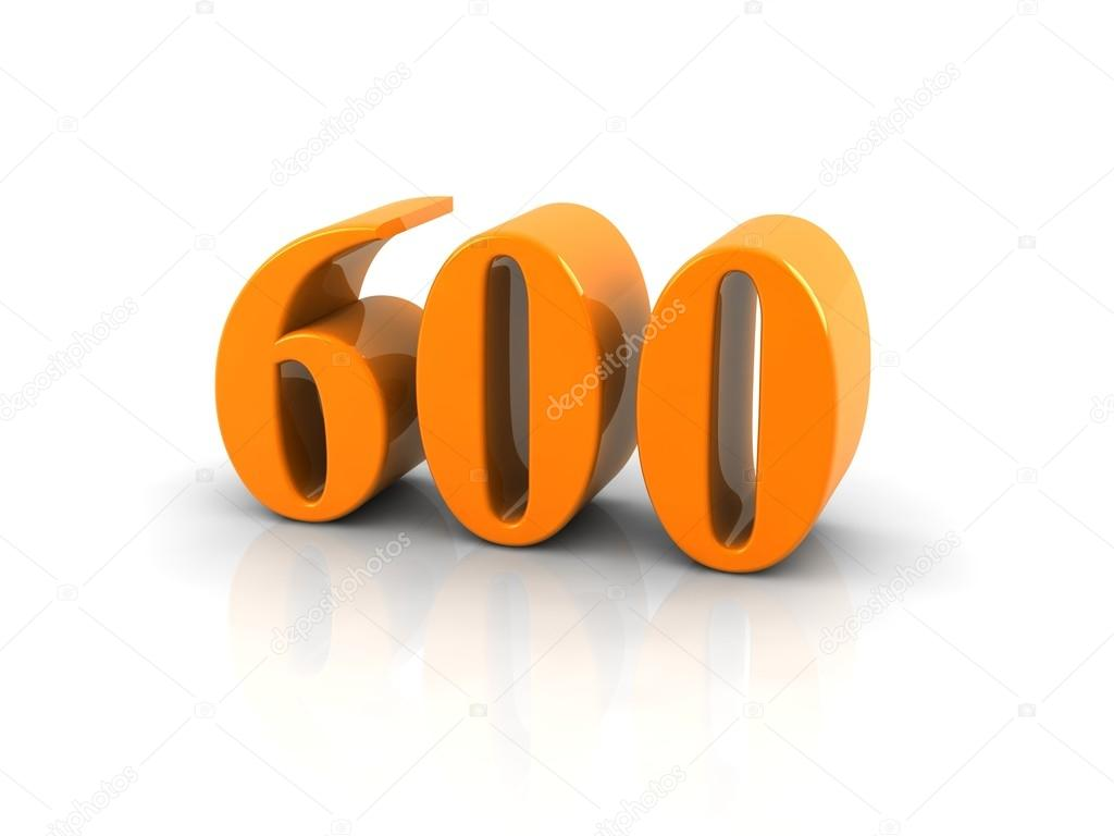 Images: 600 number | Number 600 — Stock Photo © Elenven #62310593