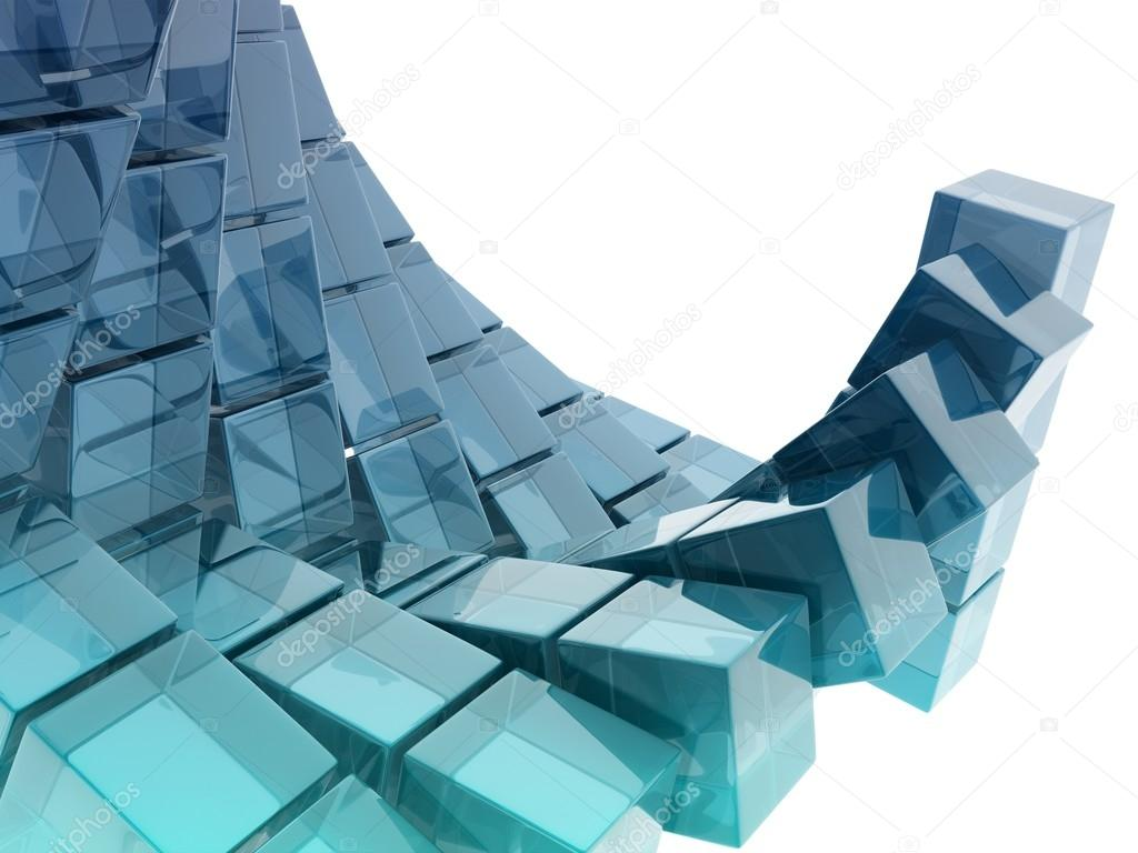 Glass Cubes U2014 Stock Photo