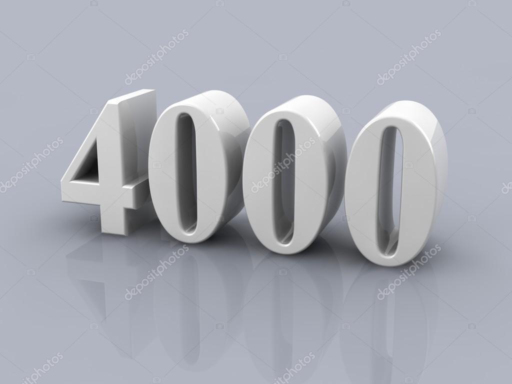 número de 4000 foto de stock elenven 66803809