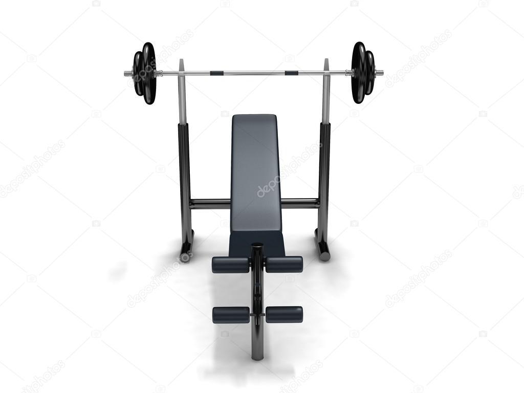 Sgabello del bilanciere e fitness u foto stock elenven