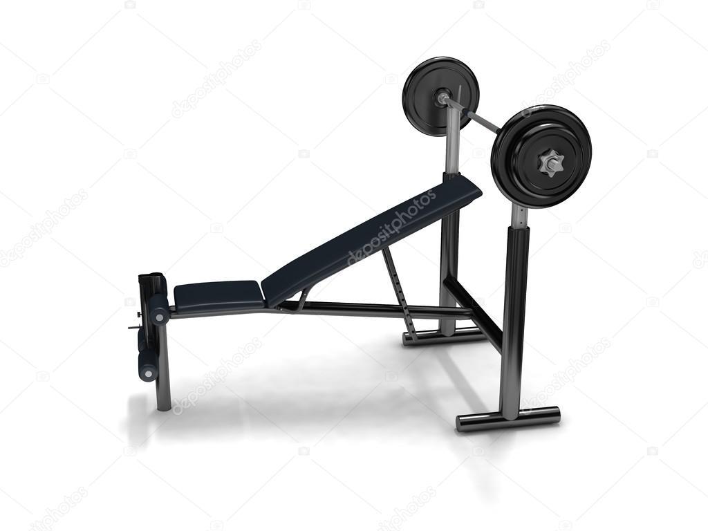 Sgabello del bilanciere e fitness u2014 foto stock © elenven #68137249