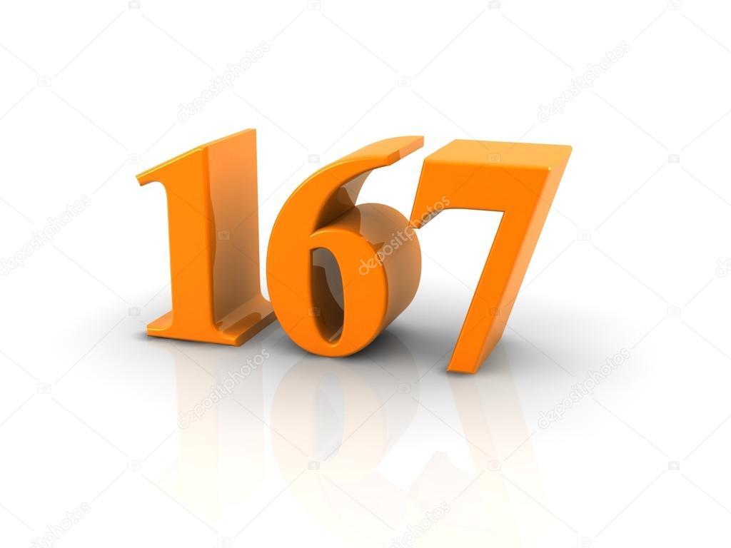 Número 167 — Fotografia de Stock