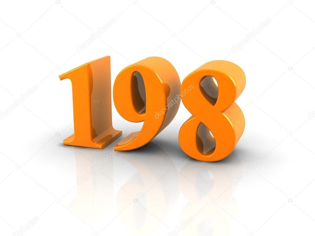 Номер 198– Стоковое изображение