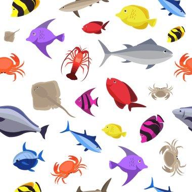 Marine life pattern