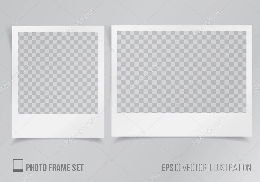 Set polaroid frames met transparante achtergrond vector ...