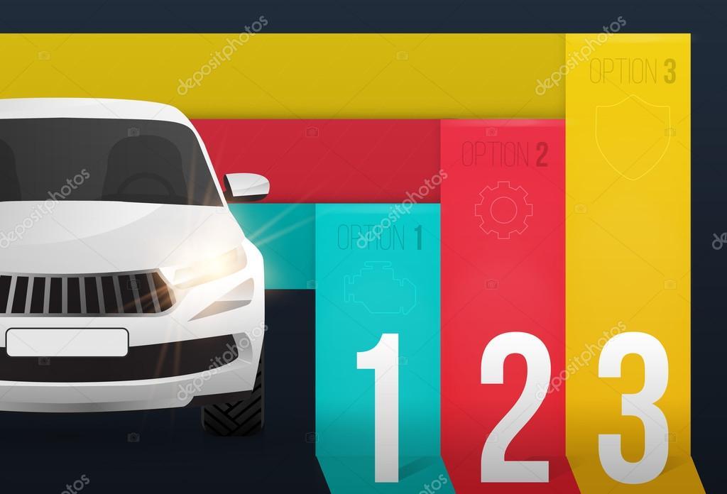 Auto Infografik Vorlage Vektor automotive Web Banner-design ...