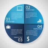 Infographics  circle paper