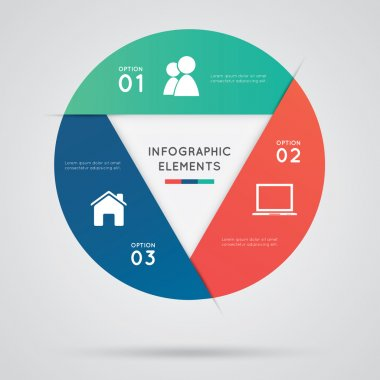 Modern circle infographics, business options banner