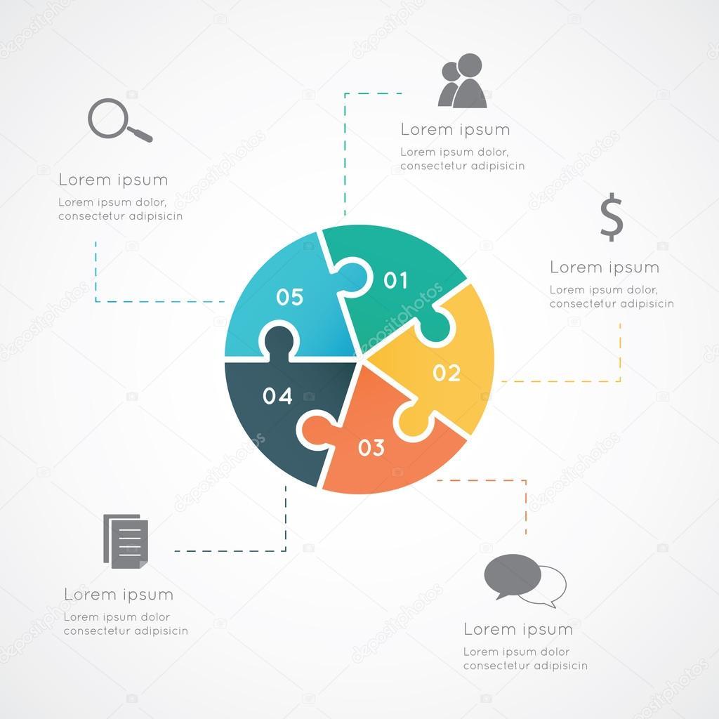 Infographic circle puzzle
