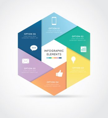 Modern hexagon infographics