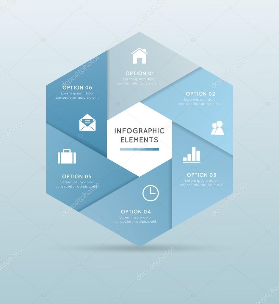 Modern hexagon infographics