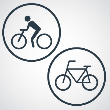 Icon with man on bike.