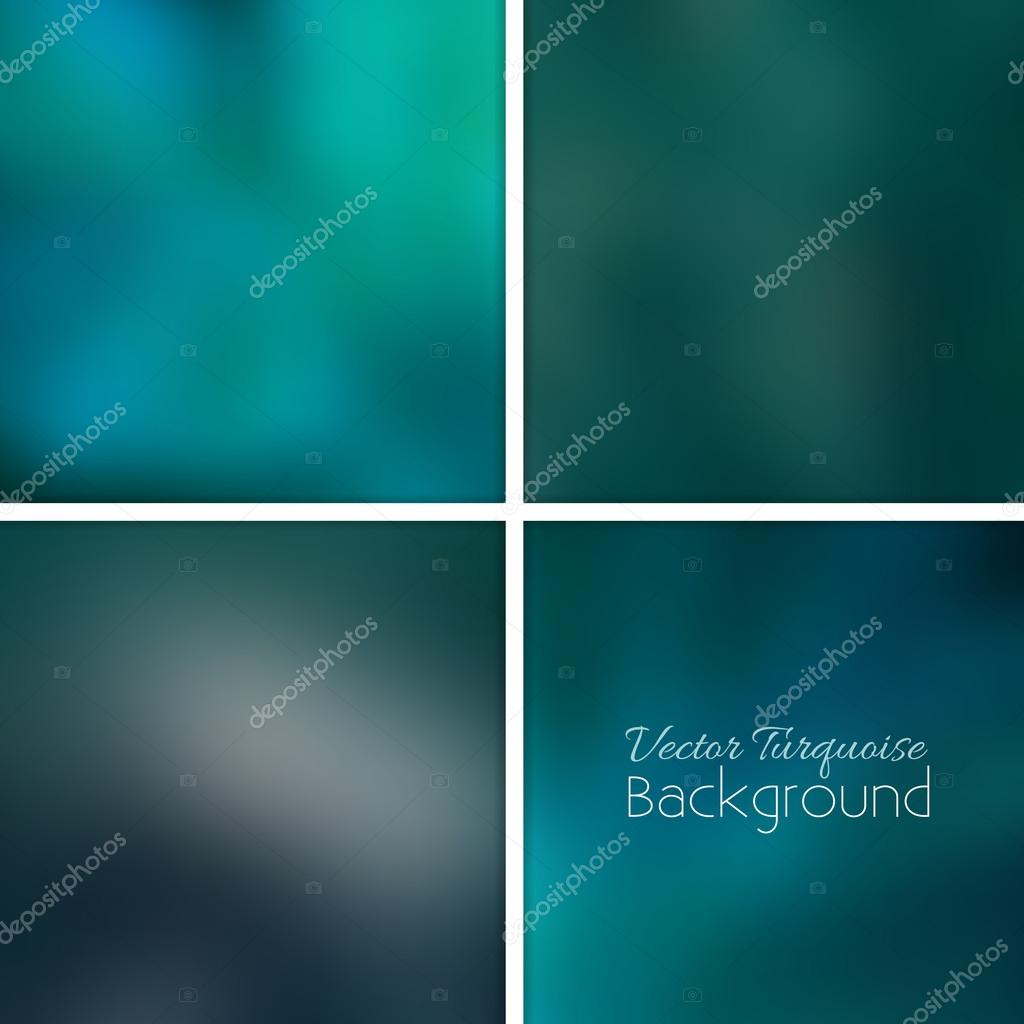 Turquoise abstract blurred background