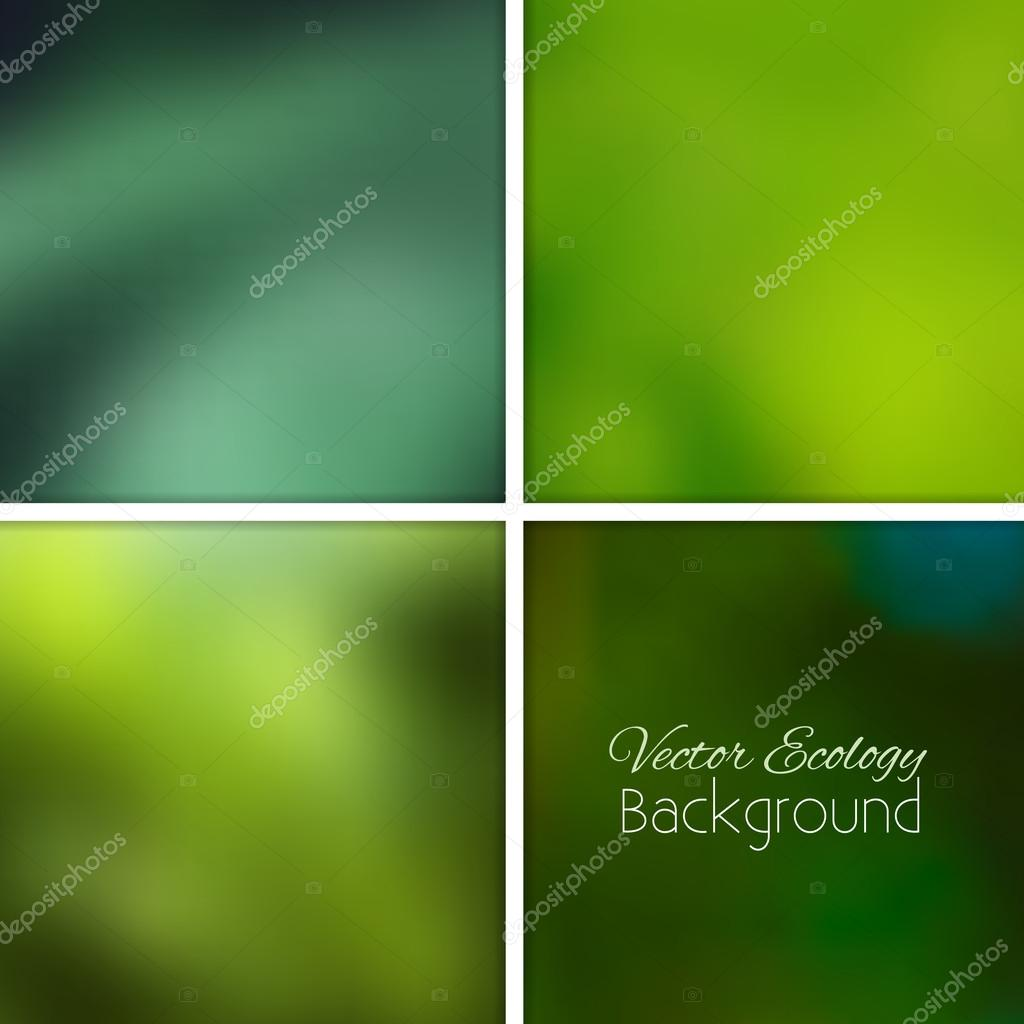 Ecology green nature blurred background
