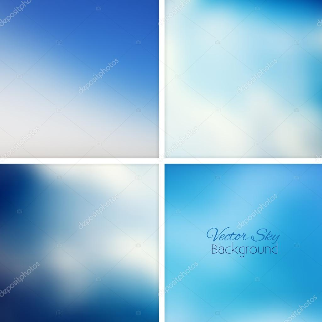 Sky and clouds blue blurred background
