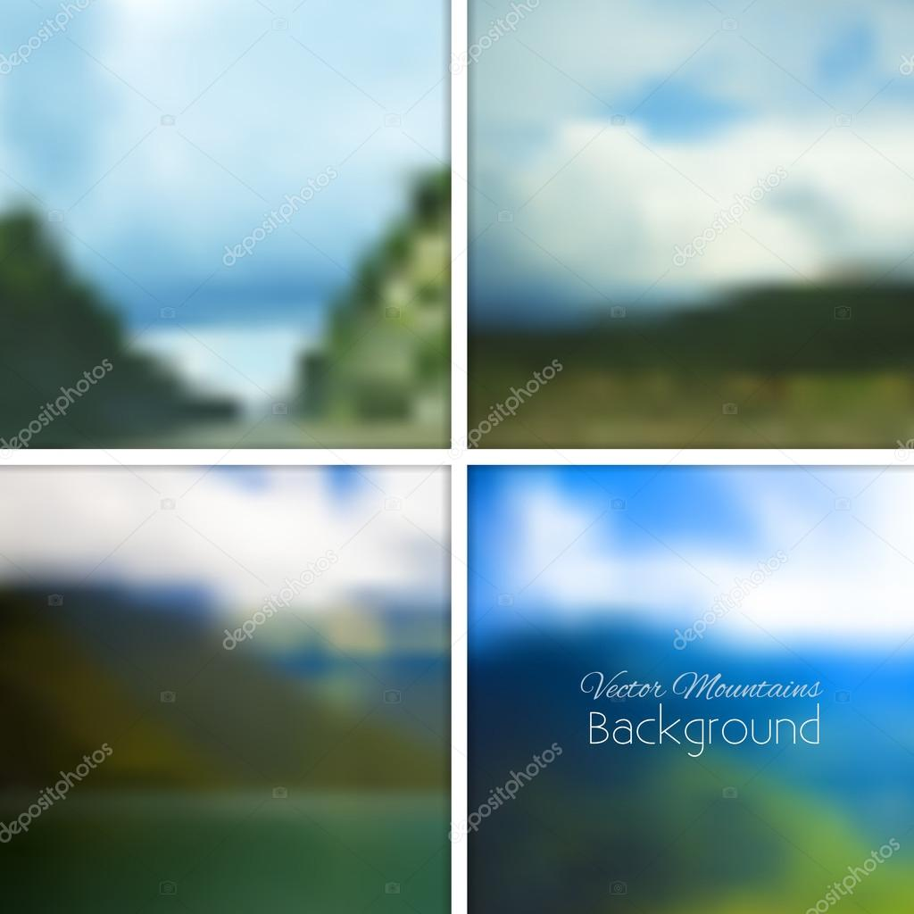 Mountains nature blurred background