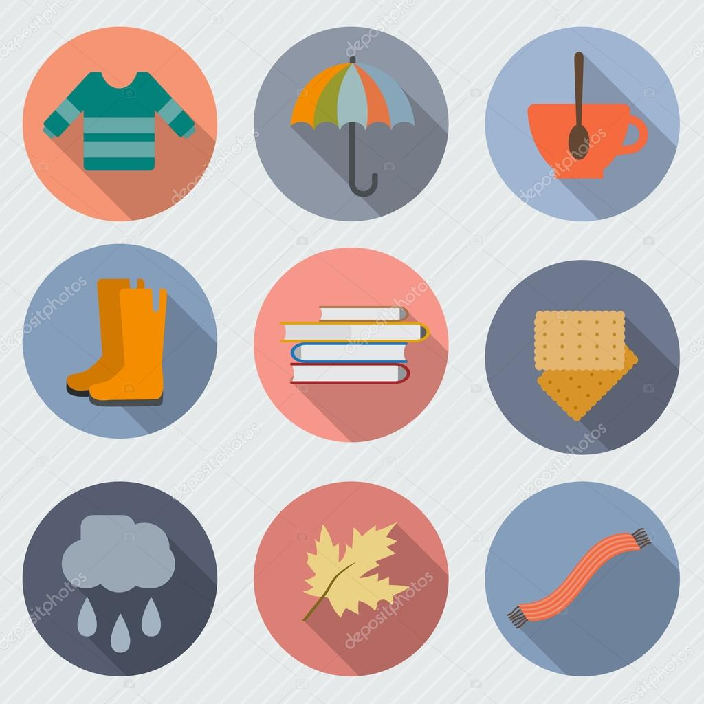 Autumn icon set.