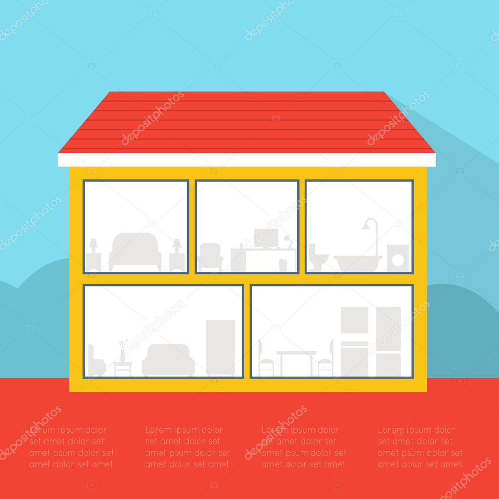 Empty House Stock Vector 169 Elvetica 59523457