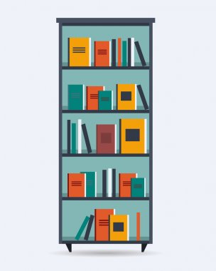 Book shelf with different books