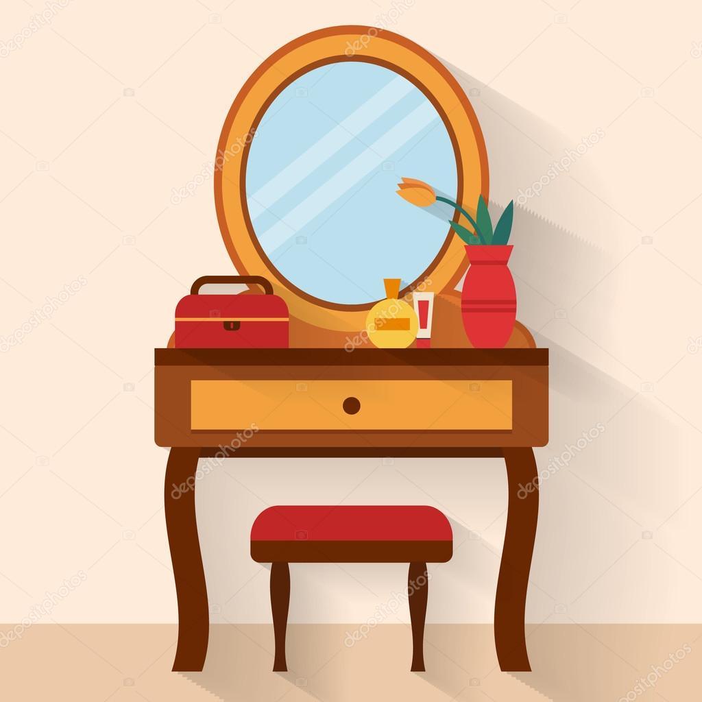Vrouw boudoir met tabel — Stockvector © Elvetica #77299718