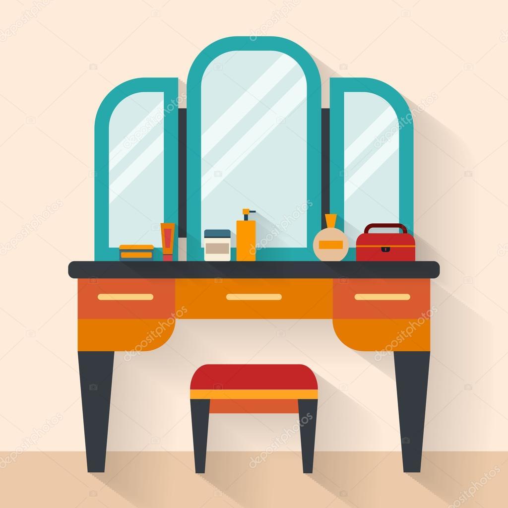 Vrouw boudoir met tabel — Stockvector © Elvetica #77299728