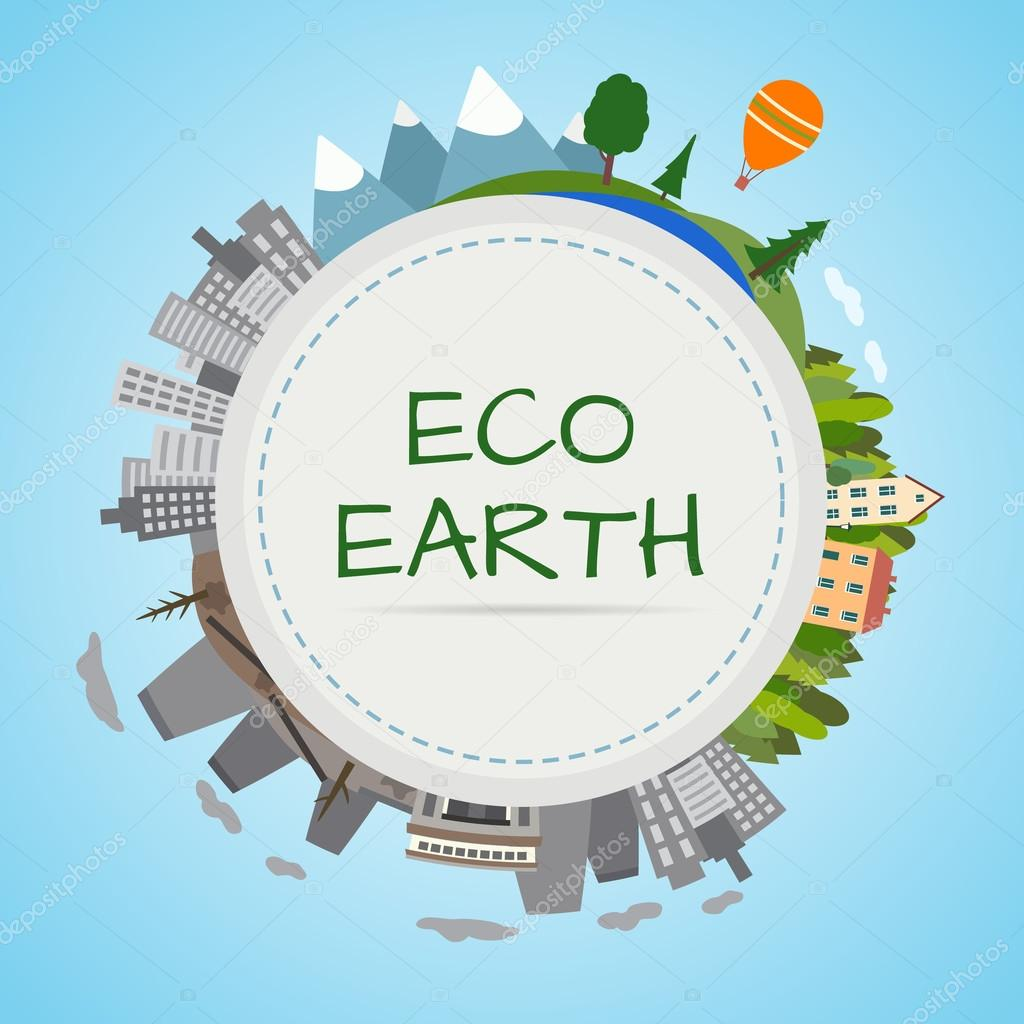 Ecology planet,eco-friendly city