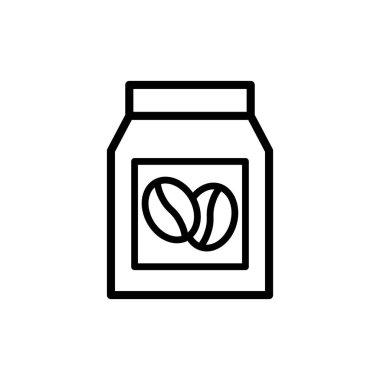 Coffee bag vector thin line icon icon