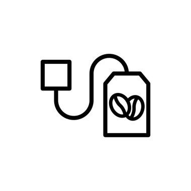 Instant coffee bag vector thin line icon icon