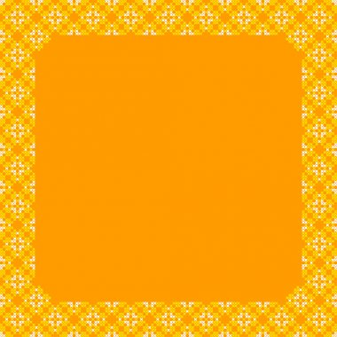 Frame, yellow and orange patterns on canvas