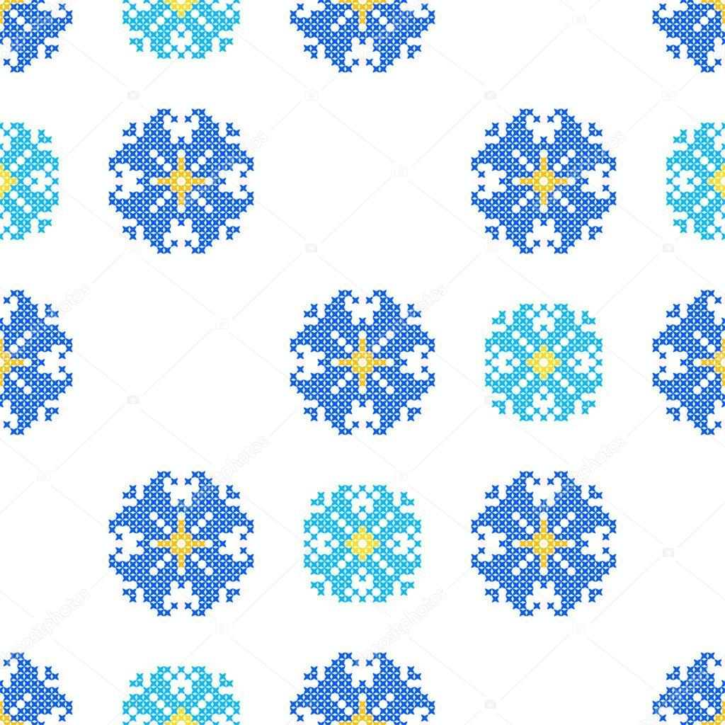 virola bordado textura de patrones abstractos del azul — Archivo ...