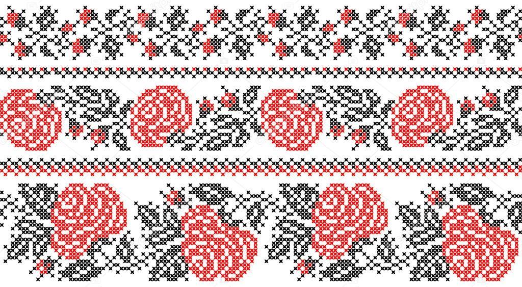 Роза вышивка орнамент