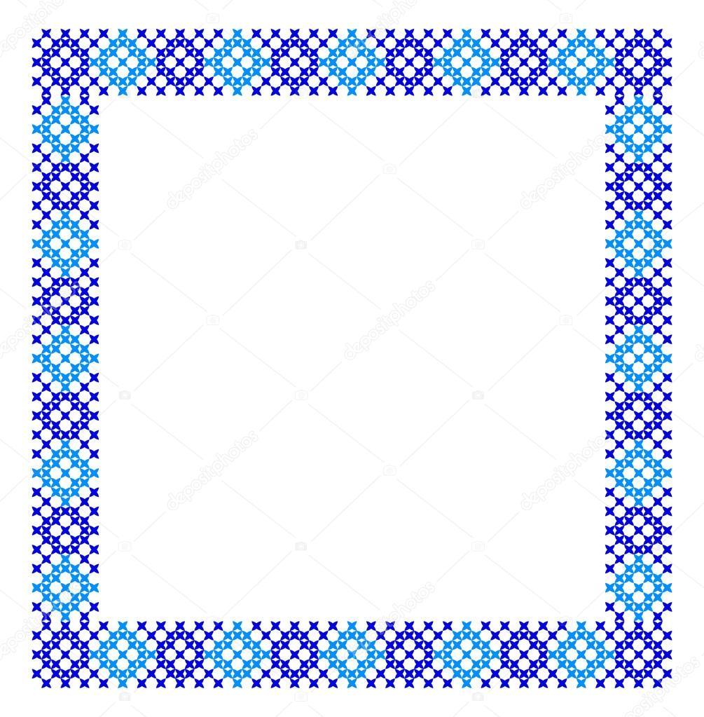 Marco. Patrones de azul — Vector de stock © Natusya.sonce #97900988