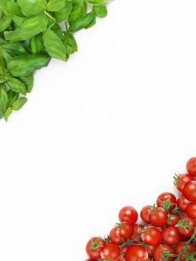 The Italian flag made up of fresh vegetables