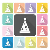 Party hat Icon color set vector illustration