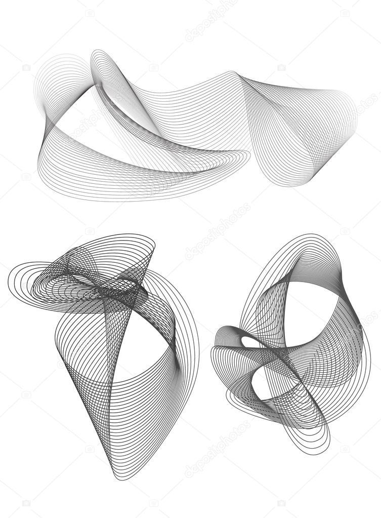 mezcla elementos gris de diseño conjunto de mallas — Vector de stock ...