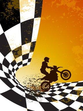 Motocross background design