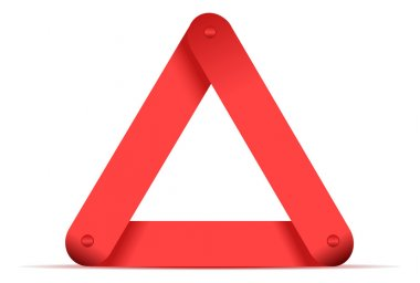 Emergency red triangle