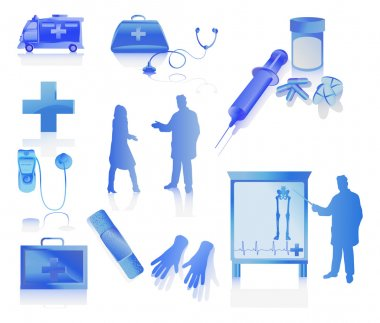 Medical collection with doctors