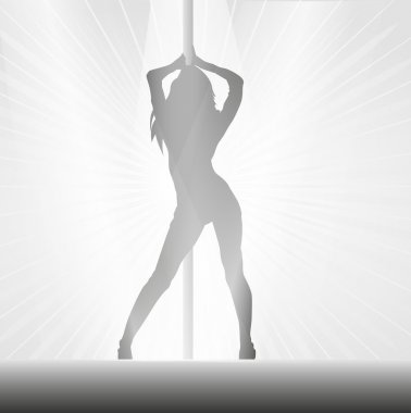 Pole dancer background