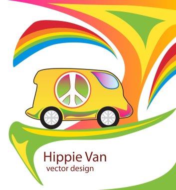 Colorful hippie van