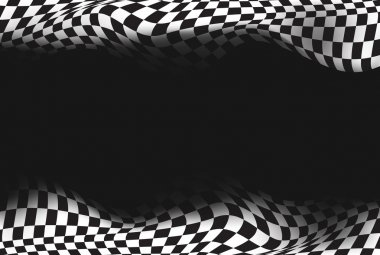 Race checkered flag background vector