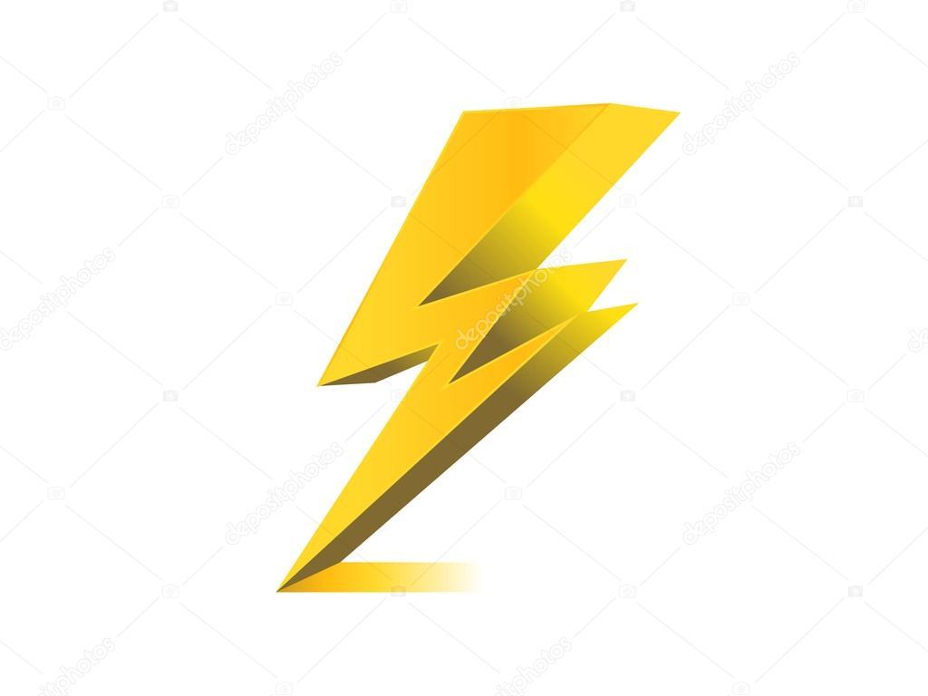 Lighting Electric Charge Icon Symbol Illustration Stock Photo