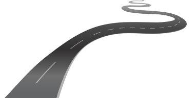 winding road highway background vector illustration