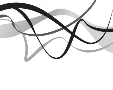 Abstract art vector. Abstract background with curvy, curved line