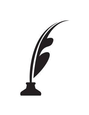 pen and ink bottle vector symbol