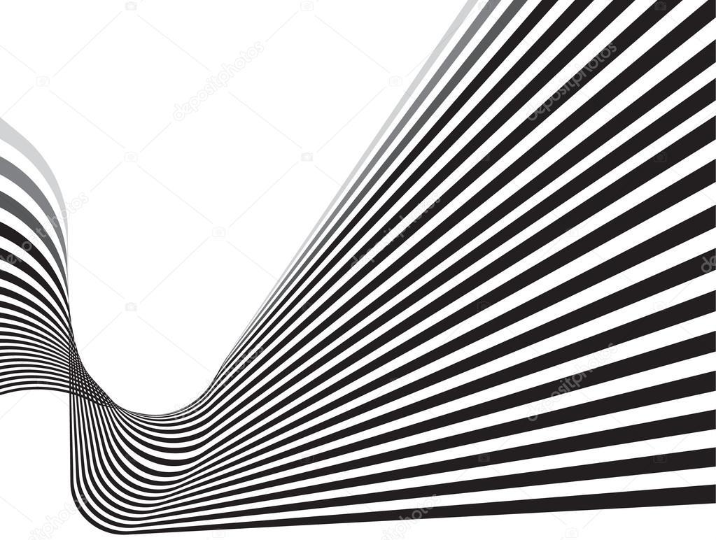 Line Art Effect Photo : Optical effect mobius wave stripe design movement u2014 stock vector