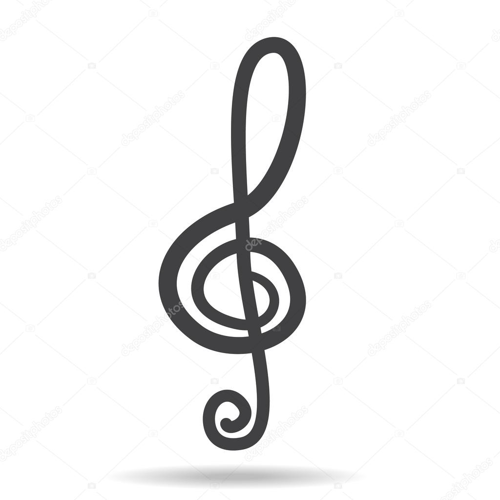 Violin key sign vector music symbol black stock vector amudsen violin key sign vector music symbol black stock vector biocorpaavc Images